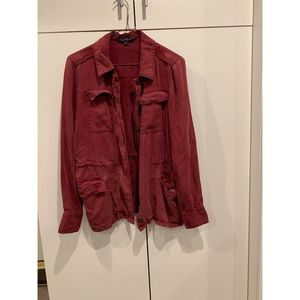 Jackets & Blazers - vintage maroon jacket with pockets and zipper